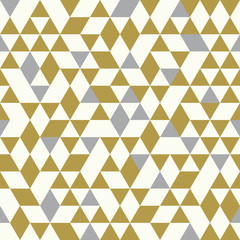 Seamless Golden Pattern of geometric shapes