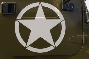 US Army symbol on a staff car