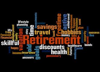 Retirement, word cloud concept 9