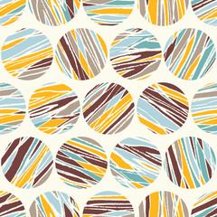 Vector seamless abstract pattern. Abstract circles. Background f