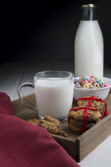 Cookis and milk fot the special day