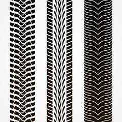 Tire tracks illustration