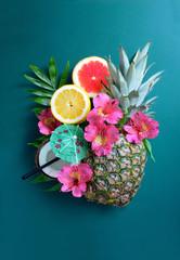 Summer fruits settinng