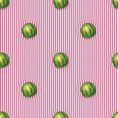 Watermelons on the tablecloth