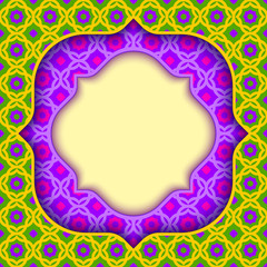 Vector background in islamic style