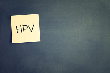 sticky with the note HPV (Human Papillomavirus)
