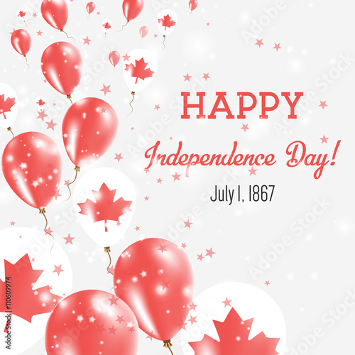 Canada independence day greeting card flying balloons in canada canada independence day greeting card flying balloons in canada national colors happy independence day m4hsunfo