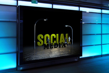 Social Media, 3D Typography