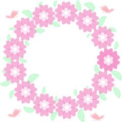 Round flower frame vector, cornice fiori rotonda vettoriale