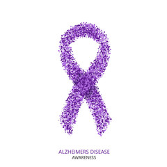 Vector modern ALZHEIMERS DISEASE awareness circles desigen.