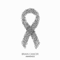 Vector modern brain cancer awareness circles desigen
