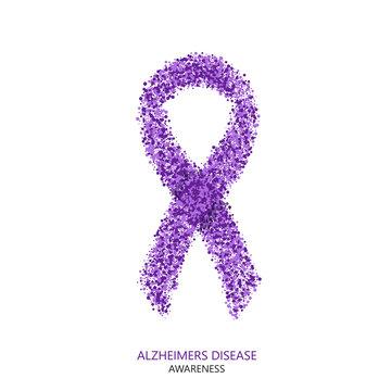 Vector modern ALZHEIMERS DISEASE awareness circles desigen.
