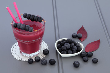 Blueberry Smoothie Fruit Juice Drink