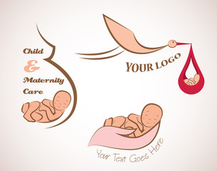 baby and motherhood logos