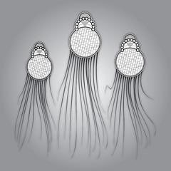 hand created vector medusa dance decoration element