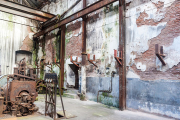 Interior of a former meat factory, now Museum of Industrial Revolution.