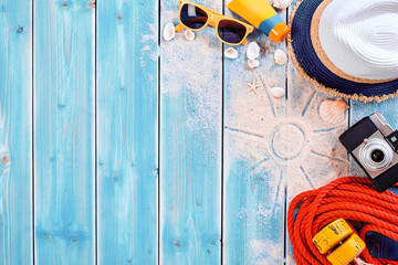 Seaside Vacation Background with Copy Space