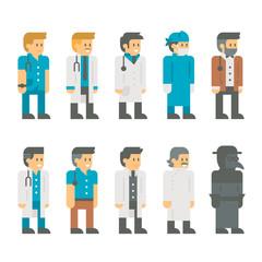 Flat design doctor uniform set