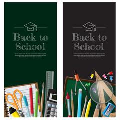 Back to school background, vector illustration