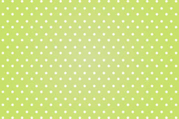 polkadots with green background