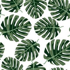 Tropical seamless pattern.Colorful vector textile print.Textile texture