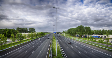 Highway in Holland.