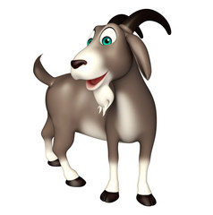 cute Goat funny cartoon character