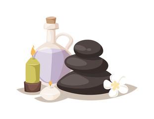 Aroma spa stones vector illustration.