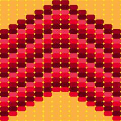 абстракция яркая красочная мозаика с переходом цвета-красный