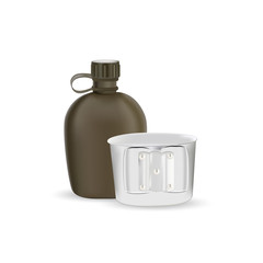 Vector army water canteen icon