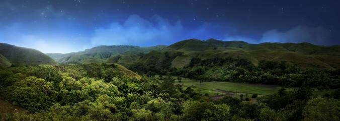 Photo sur Aluminium Indonésie Hill in Sumba island at night, Indonesia
