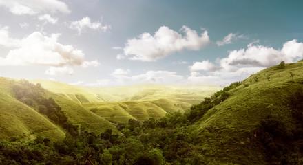 Aluminium Prints Indonesia Sumba Island Hills Landscape