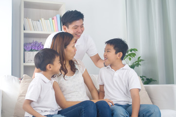 asian mixed race family