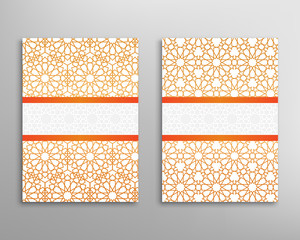 Islamic brochure vector
