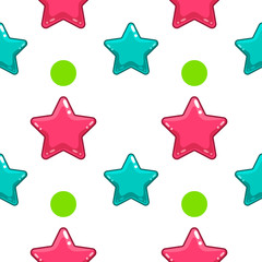 Seamless pattern with colorful  star - 2