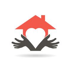 Lovely House logo. Vector graphic design