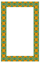 Vertical frame with geometric pattern