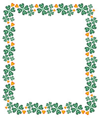 Abstract frame with geometric flowers