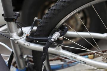 Fahrrad mit Zahlenschloss