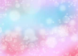 Soft pink and blue starry glitter feminine toned bokeh background - pink and blue sparkling glittery star speckled background with bokeh lights