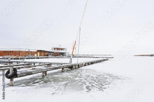 Rust neusiedlersee winter  Eisdecke am Neusiedlersee in Rust