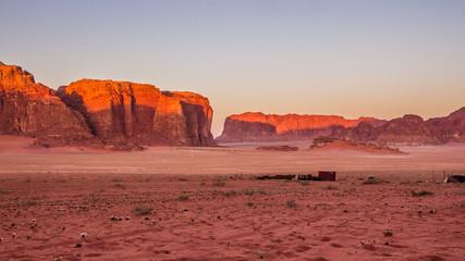 Wadi Rum desert - Valley of the Moon in Jordan. UNESCO World Her