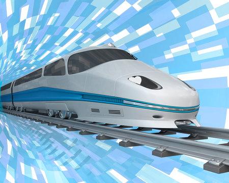 High speed bullet train. 3d illustration