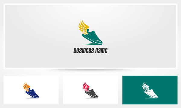 Running Shoes Wings Logo