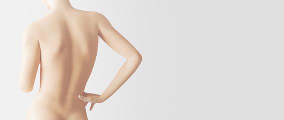 Corpo nudo di donna schiena spalle