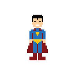 pixel people superhero avatar
