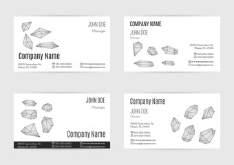Set of business card templates