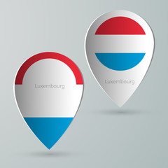 paper of map marker for maps luxembourg