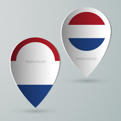 paper of map marker for maps netherlands