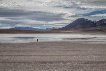 White lake Bolivia in Uyuni